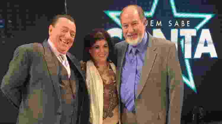 Raul, Carmen e Gilbert juntos no SBT - Divulgação/SBT - Divulgação/SBT