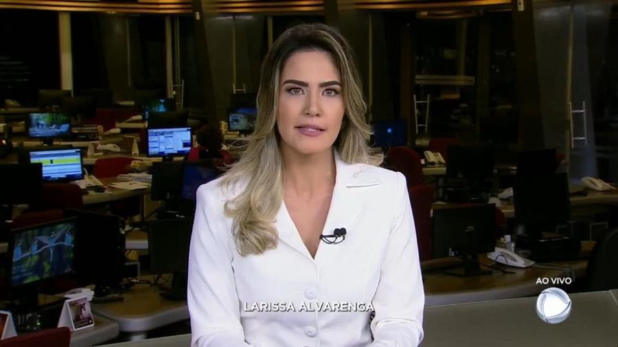 A repórter Larissa Alvarenga no programa ?Fala Brasil? - Reprodução
