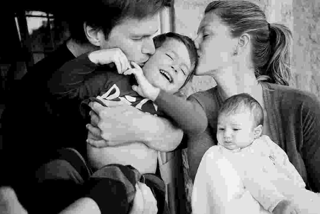 Gisele, Tom Brady e os filhos Benjamin e Vivian Lake - Reprodução/Instagram