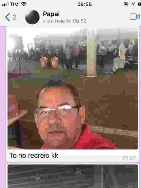 """Hilário Pires, 56, entrou na faculdade e mostrou seu """"recreio"""" para a filha - Reprodução/Twitter"""