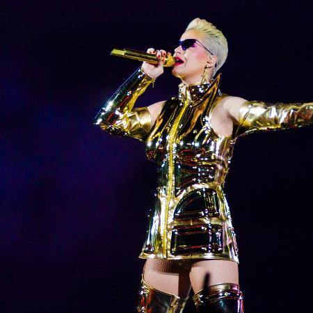 Katy Perry durante sua passagem pelo Brasil - Mariana Pekin/UOL