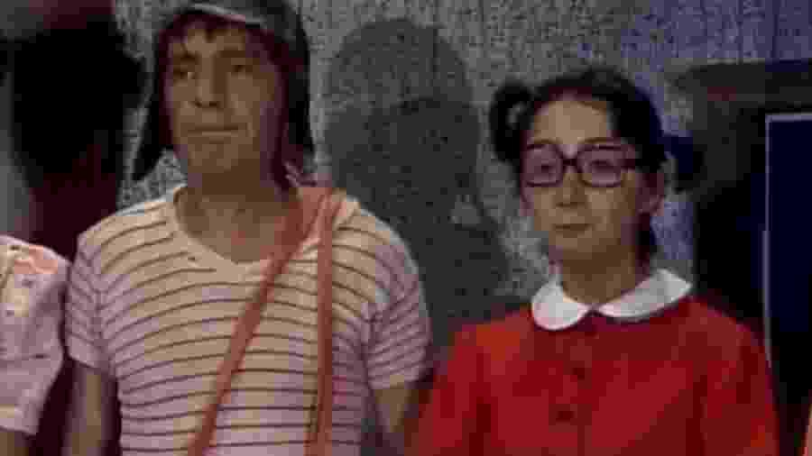 """Chaves e Chiquinha em """"Um Festival de Vizinhos"""", episódio de """"Chaves"""" que só o SBT exibe - Reprodução/SBT"""