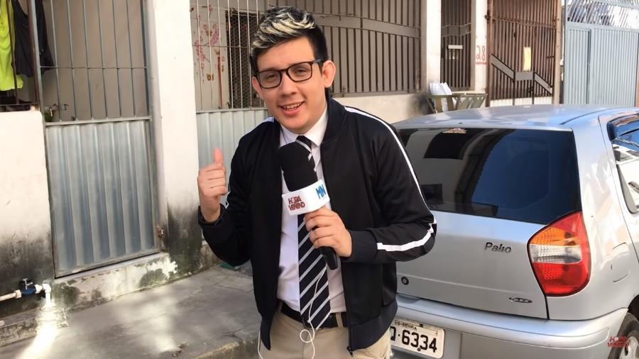 Erlan Bastos, ex-morador de rua que virou apresentador e youtuber de sucesso - Reprodução