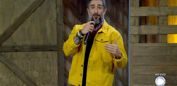 """Marcos Mion conversa com o público de """"A Fazenda 10"""""""