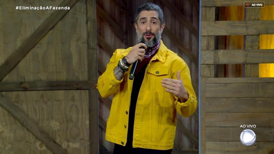 """Marcos Mion conversa com o público de """"A Fazenda 10"""" - Reprodução/RecordTV"""