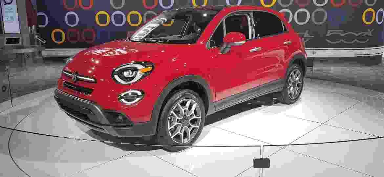 Fiat 500X, Modelo que fez sucesso no Salão de SP, tem espaço discreto no evento dos EUA - Fernando Miragaya/UOL
