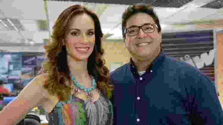 "Ana Furtado e André Marques à frente do ""Vídeo Show"" - Rafael Sorín/TV Globo - Rafael Sorín/TV Globo"