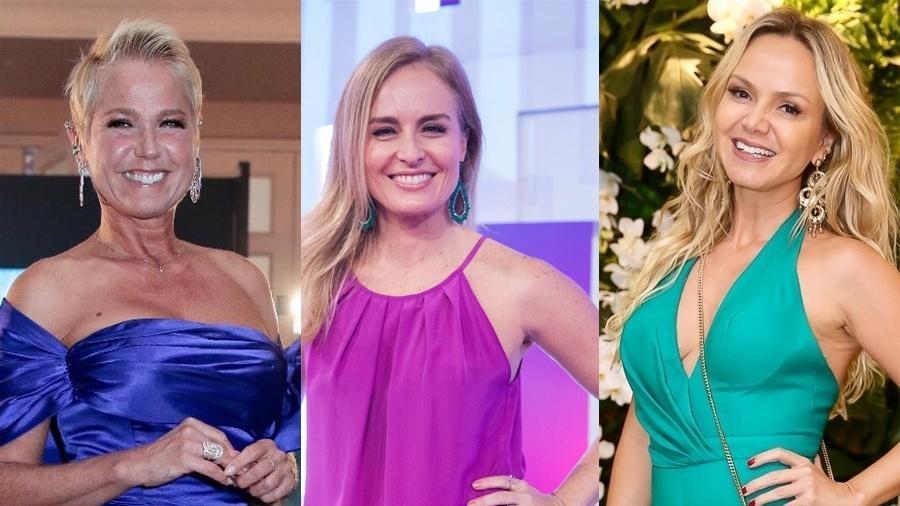 As apresentadoras Xuxa, Angélica e Eliana - Divulgação