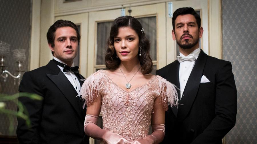 "O triângulo de ""Espelho da Vida"" que ultrapassa o tempo: Júlia, Danilo e Gustavo - Victor Pollak/Globo"