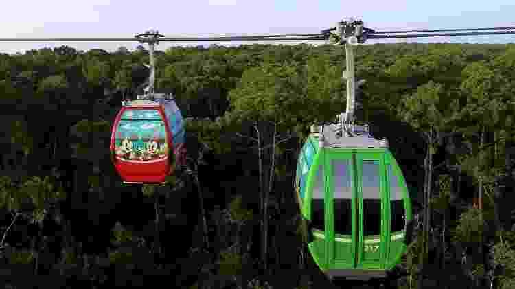 Com inauguração marcada para o próximo mês de setembro, o Skyliner terá cerca de 300 cabines - Divulgação/Walt Disney World