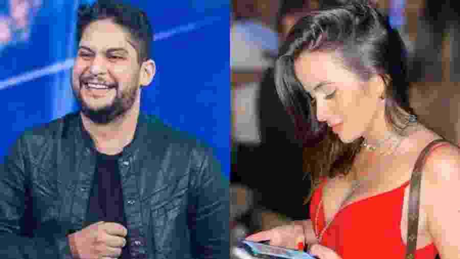 Sertanejo Jorge ao lado da nova namorada Rachel Boscatti - Reprodução/Montagem UOL