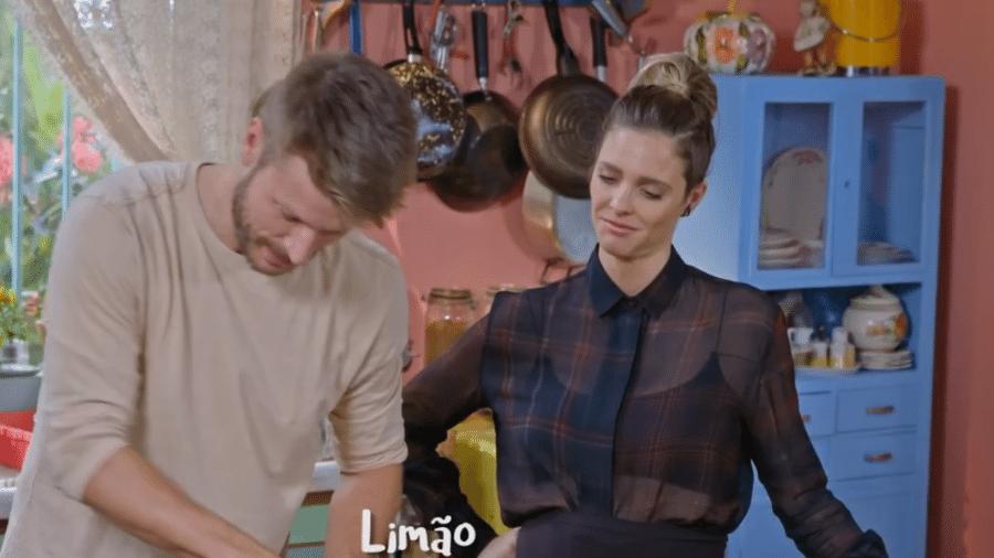 Rodrigo Hilbert e Fernanda Lima cozinharam juntos - Reprodução/TV Globo