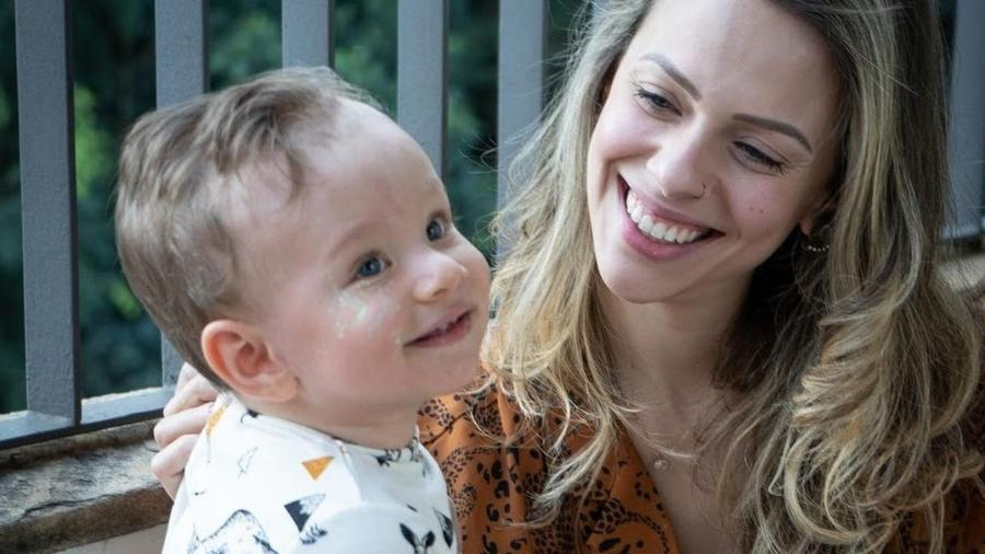 Gabi é mãe solo desde que o filho Bernardo tem 5 meses - Acervo pessoal
