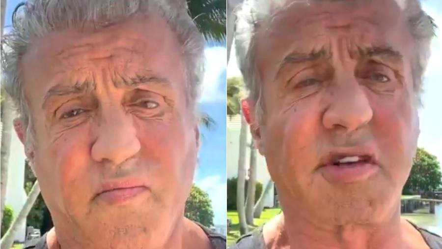 Sylvester Stallone em vídeo publicado no Instagram - Reprodução/Instagram