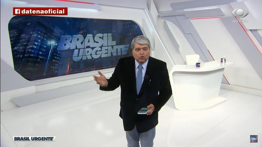 """Datena chamou Lauro Jardim, do jornal O Globo, de """"canalha"""", """"idiota"""" e """"verme"""" - Reprodução/TV Band"""