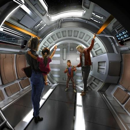Conceito do interior do hotel inspirado em Star Wars que será lançado no Walt Disney World em 2022 - Divulgação Disney