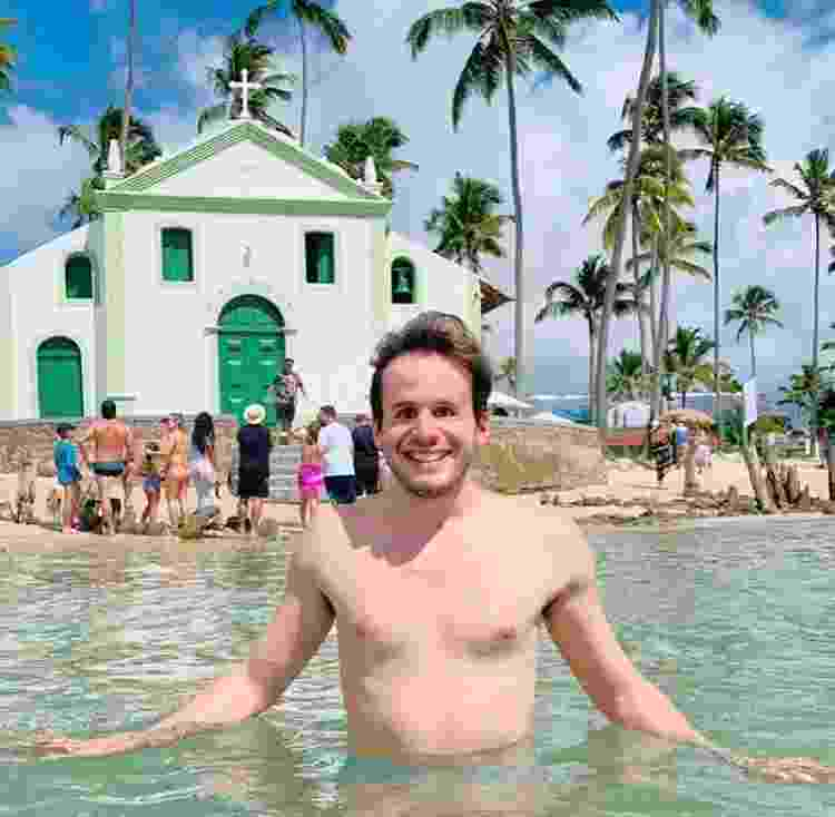 Fernando em registro na Praia de Carneiros, em Pernambuco - Arquivo Pessoal - Arquivo Pessoal