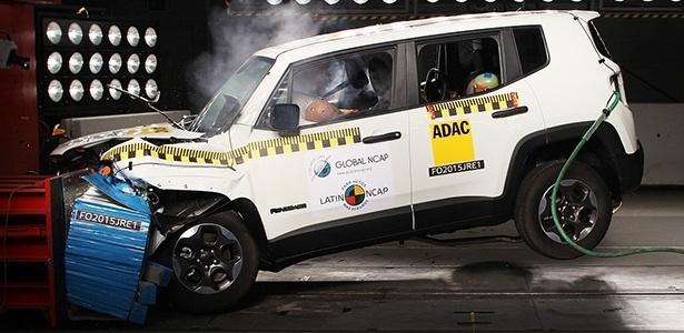 """Jeep Renegade """"aproveitou"""" mudança na metodologia e foi primeiro veículo produzido no Brasil a obter número máximo de estrelas na proteção para adultos e crianças - Divulgação"""