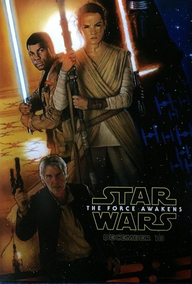 """16.ago.2015 - Novo pôster de """"Star Wars: O Despertar da Força"""", divulgado na D23. Filme estreia no dia 17 de dezembro no Brasil"""
