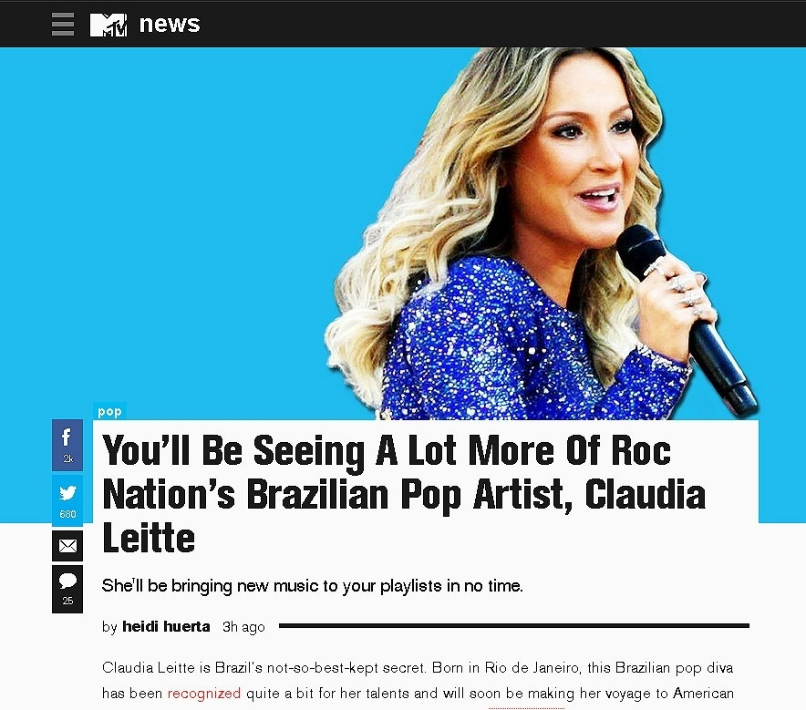 06.out.2015 - MTV americana divulga carreira internacional de Claudia Leitte