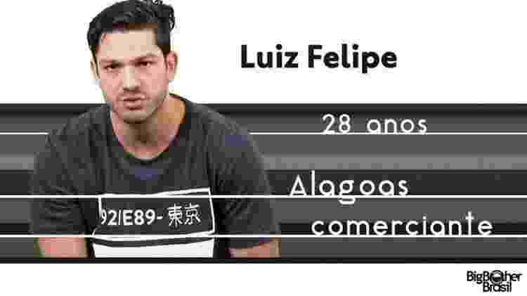 "Luiz ""BBB17"" - Reprodução/TV Globo - Reprodução/TV Globo"
