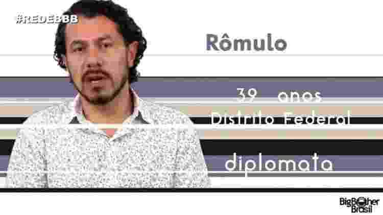"Rômulo ""BBB17"" - Reprodução/TV Globo - Reprodução/TV Globo"