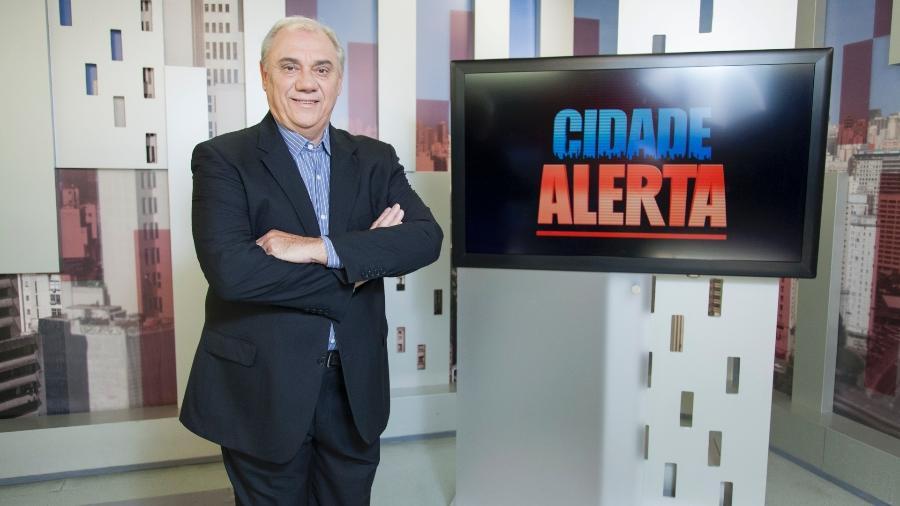 """Marcelo Rezende empatou com a Band em seu """"Cidade Alerta"""", na Record - Edu Moraes/Divulgação/Record"""
