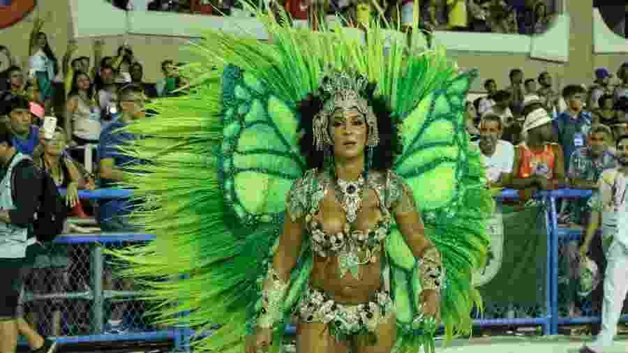 Milena Nogueira, rainha de bateria da Império Serrano - Roberto Filho/Brazil News