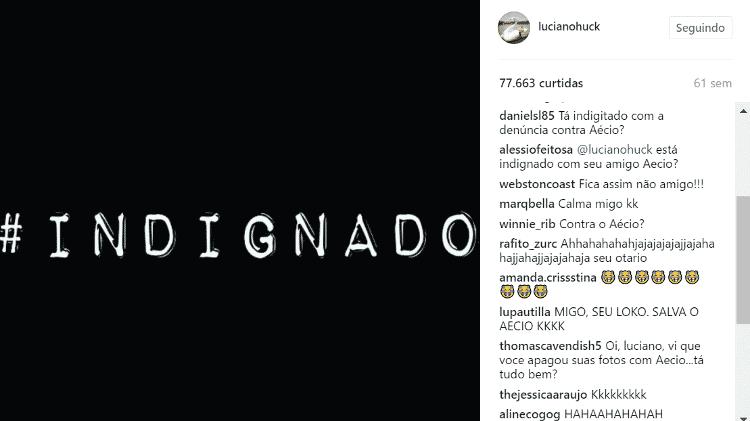 Internautas ironizam apoio de Luciano Huck a Aécio Neves - Reprodução / Instagram - Reprodução / Instagram