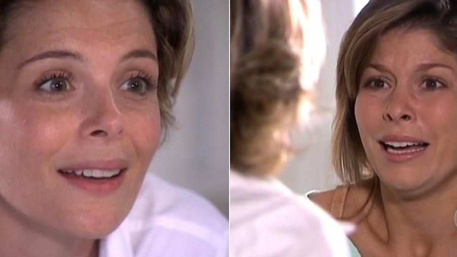 """Jenifer (Bárbara Borges) se descobre homossexual em cena de """"Senhora do Destino"""" cortada pela Globo - Montagem/Reprodução/TV Globo"""