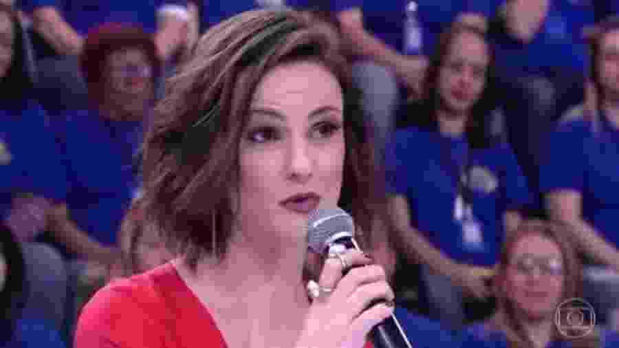 """Carolina Kasting no """"Domingão"""" - Reprodução/Globo"""