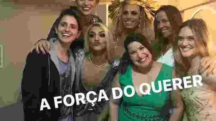 """Pabllo Vittar com equipe de """"A Força do Querer"""" - Reprodução/Instagram - Reprodução/Instagram"""