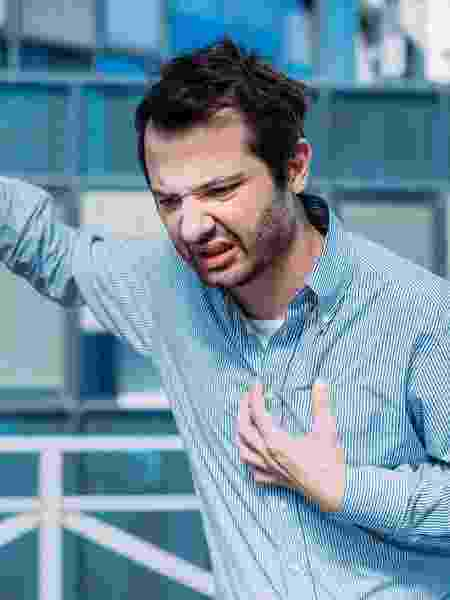 Dor no coração/ Falta de ar/ Ataque cardíaco  - iStock - iStock