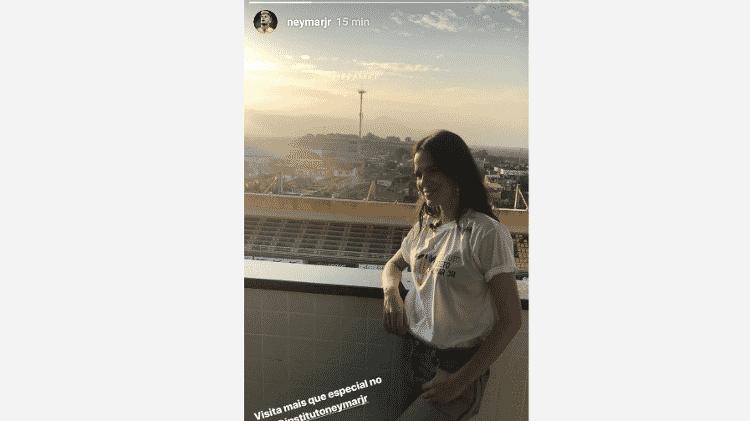Neymar compartilha foto de visita de Bruna Marquezine em seu instituto - Reprodução/Instagram - Reprodução/Instagram