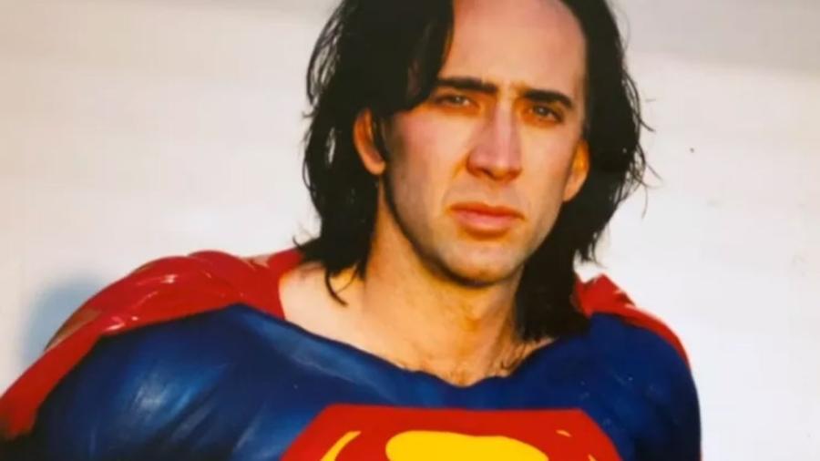Nicolas Cage trajado como Superman - Reprodução