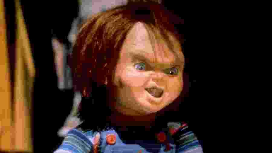 """Chucky em cena de """"Brinquedo Assassino"""" (1988) - Reprodução"""