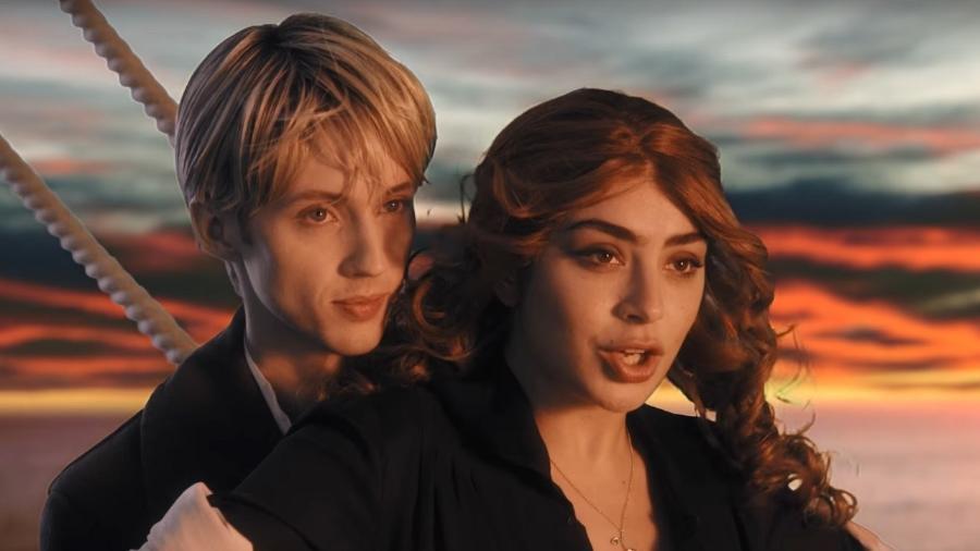 Cena do clipe de Charli XCX e Troye Sivan - Reprodução