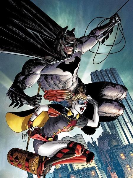 """Arlequina e Batman em """"Harley Quinn #58"""" - Reprodução"""