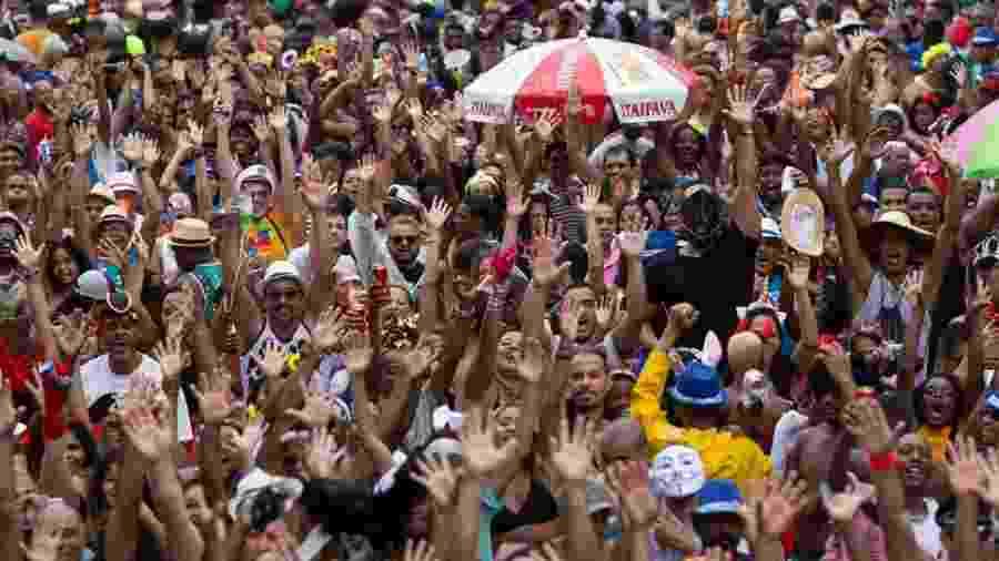 Foliões se divertem no bloco do Cordão da Bola Preta - Douglas Shineidr/UOL