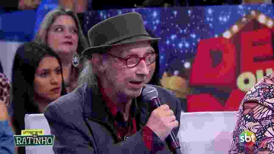 """Arnaldo Saccomani em sua participação mais recente no """"Programa do Ratinho"""" - Reprodução/SBT"""