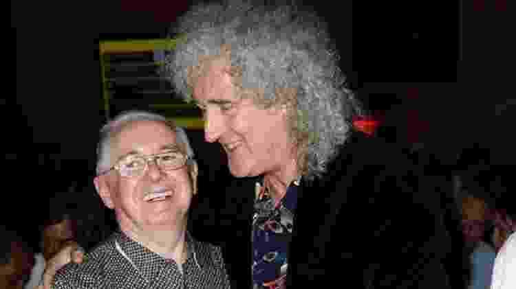 John Reid e Brian May, guitarrista do Queen, em foto de 2013 - Dave J Hogan/Getty Images