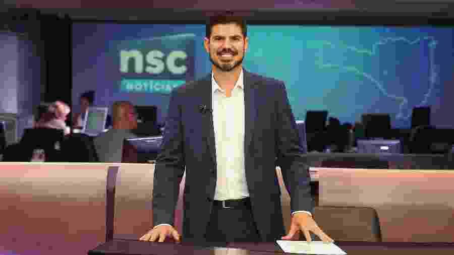 Fabian Londero, apresentador e editor-chefe do NSC Notícias na NSC TV - Léo Munhoz/DC