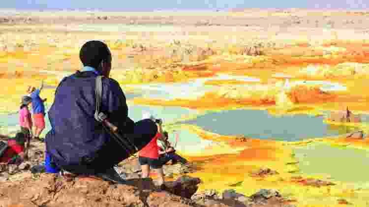 A Depressão de Danakil, na Etiópia, tem paisagens que parecem pertencer a outro planeta - Anya Newrcha/Getty Images - Anya Newrcha/Getty Images