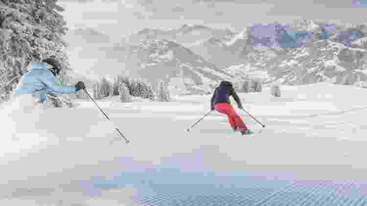 Complexo de esqui de Gstaad (Suíça) - Divulgação/Gstaad Saanenland Tourismus - Divulgação/Gstaad Saanenland Tourismus