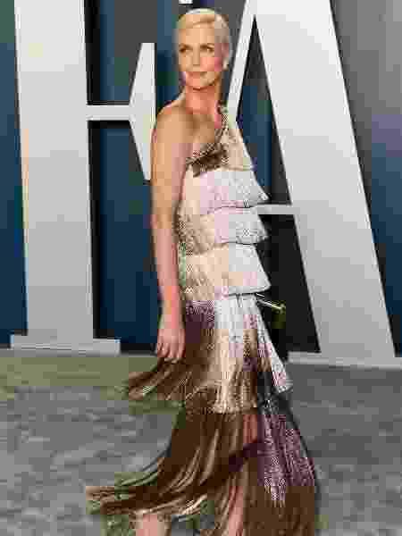 A atriz Charlize Theron em festa pós-Oscar - JEAN-BAPTISTE LACROIX/AFP