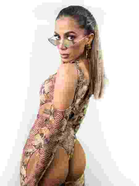 Anitta com fantasia de jacaré para show em Mucuri, na Bahia - Divulgação