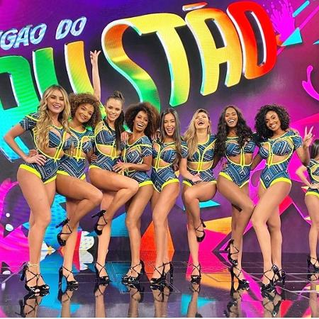 """Bailarinas do """"Domingão"""" foram divididas em grupos e terão que seguir protocolos especiais ao dançar - Reprodução/Instagram"""