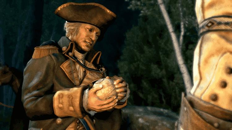 Assassin's Creed III George Washingtom Aple - Reprodução - Reprodução