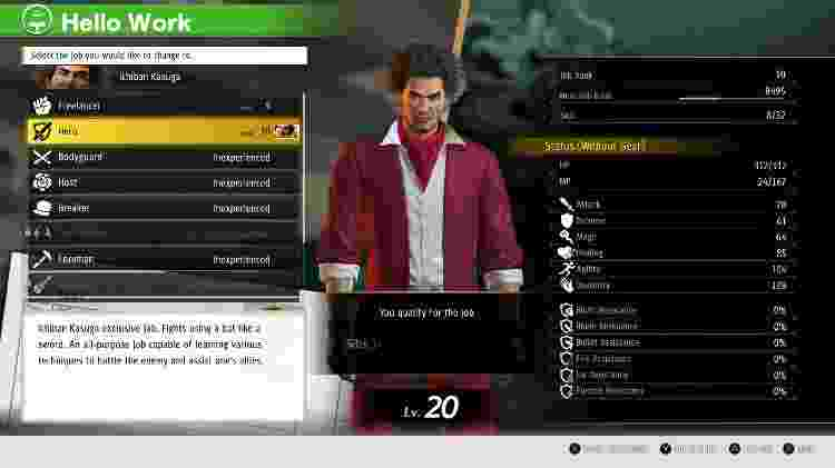 Yakuza Like a Dragon Menu 2 - Daniel Esdras/GameHall - Daniel Esdras/GameHall