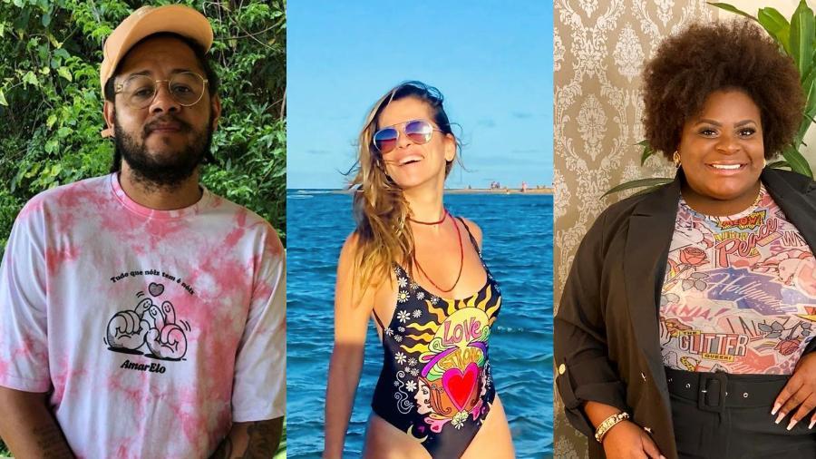 BBB 21: Emicida, Ingrid Guimarães e Jojo Todynho - Reprodução/Instagram
